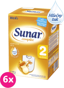 6x SUNAR Complex 2 (600g) - dojčenské mlieko