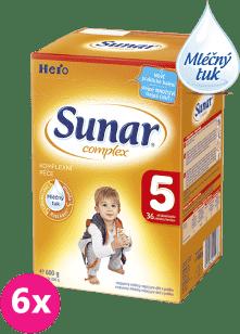 6x SUNAR Complex 5 (600g) – kojenecké mléko