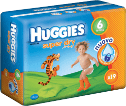 HUGGIES® Super Dry 6 (Extralarge), 19ks - jednorázové plienky