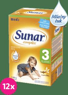 12x SUNAR Complex 3 VANILKA (600g) - dojčenské mlieko