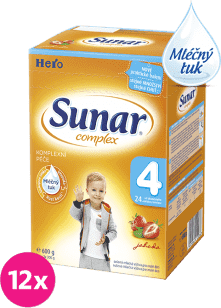 12x SUNAR Complex 4 JAHODA (600g) – kojenecké mléko