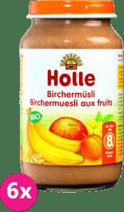 6x HOLLE Ovocné müsli - detská ovocná výživa, 220g