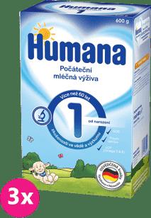 3x HUMANA 1 (600g) - dojčenské mlieko