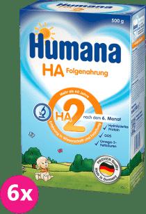 6x HUMANA HA 2 (500g) – dojčenské mlieko