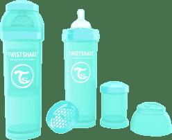 TWISTSHAKE antikolikové fľaša 330ml Tyrkysová