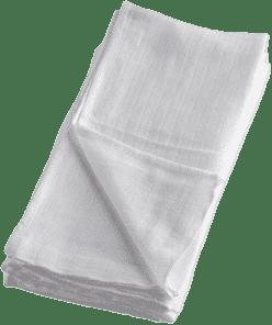 BAMBINO MIO Látkové mušelínové plenky 4ks - Bílá