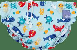 BAMBINO MIO Nohavičkové plienky kúpacie Deep Sea Blue vel.S (5-7kg)
