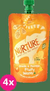 4x NURTURE Ovocná šťava pomaranč / ananás 200ml