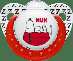 NUK Dudlík Trendline Snoopy, silikon , velikost 2 (6-18m.) - červený