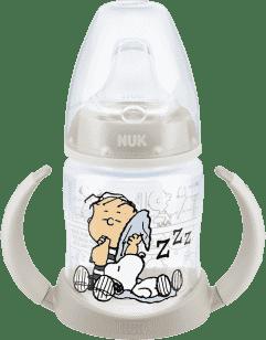 NUK FC Láhev na učení Snoopy - PP 150ml, silikonové pítko – bílá