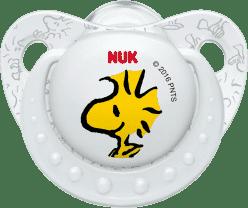 NUK Smoczek Trendline Snoopy, silikon , rozmiar 2 (6-18m.) - biały