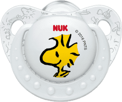 NUK Dudlík Trendline Snoopy, silikon , velikost 2 (6-18m.) - bílý