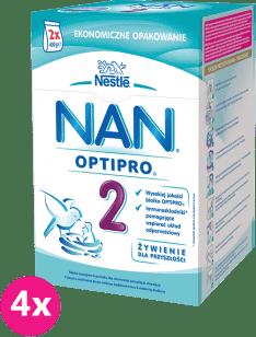 4x NESTLÉ Nan Pro 2 Mleko modyfikowane karton (2x400g) 6m+