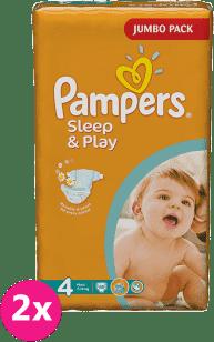 2x PAMPERS Sleep&Play 4 MAXI 68ks (7-14kg) JUMBO PACK - jednorázové pleny