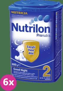 6x NUTRILON 2 ProNutra Good Night (800 g) - kojenecké mléko