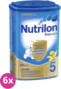 6x NUTRILON 5 ProNutra vanilka (800g) - dojčenské mlieko