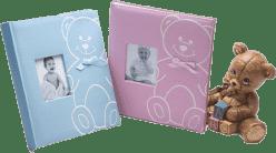 FOTOALBUM dětské na růžky - modré (medvídek)