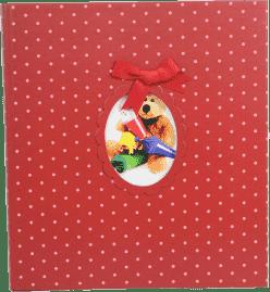 Fotoalbum na wklejane rogi – czerwony