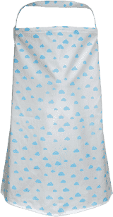 GLOOP Dojčiace prikrývka Blue Clouds