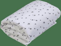 GLOOP Dziecięca kołderka do łóżeczka z wypełnieniem 100x150 Elephants