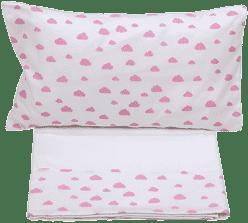 GLOOP Pościel do łóżeczka (poszewka, poszwa) Pink Clouds