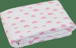 GLOOP Detská deka z organickej bavlny Pink Clouds