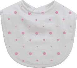 GLOOP Bryndák z organické bavlny Pink Dots (2ks)