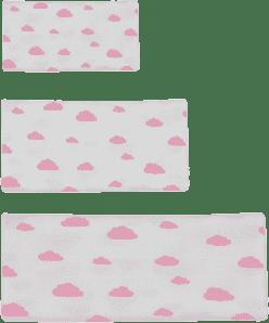 GLOOP Pieluszka muślinowa 3 rozmiary Pink Clouds