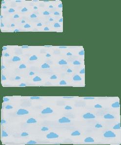 GLOOP Mušelínová plena 3 velikosti Blue Clouds
