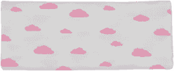 GLOOP mušelínové plienka 100x100 Pink Clouds (2ks)
