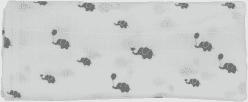 GLOOP Mušelínová plena 100X100 Elephants (2ks)