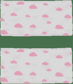 GLOOP mušelínové plienka 50x50 Pink Clouds (2ks)