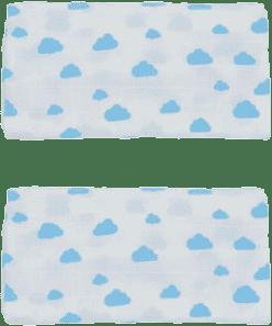 GLOOP Pieluszka muślinowa 50x50 Blue Clouds (2 szt.)