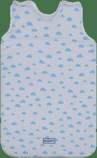 GLOOP Spací vak z organickej bavlny 0 - 6 mesiacov Blue Clouds