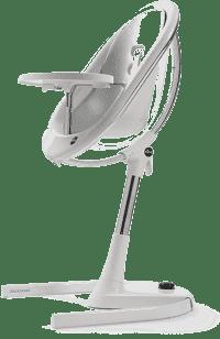 MIMA Židlička Moon chrom / průhledná