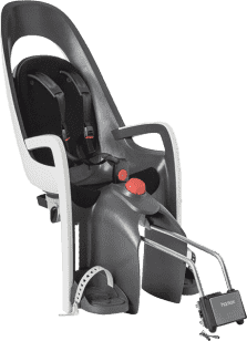 HAMAX Caress Zenith Fotelik rowerowy z niezamykanym zamkiem – szary/jasnoszary