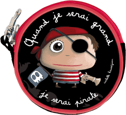 LABEL TOUR Detská peňaženka Pirát