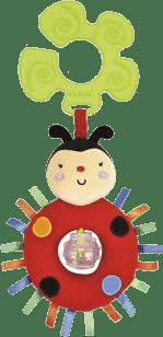 K´s Kids Hračka na kočík - hrkajúca lienka