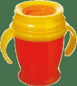 LOVI Kubek 360˚ MINI 210 ml z uchwytami - czerwony