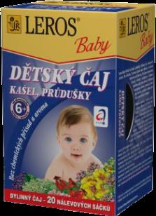 LEROS BABY dětský čaj na kašel a průdušky 20x1,5g