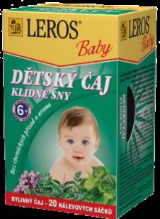 LEROS BABY detský čaj pre pokojné sny 20x1,5g