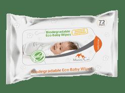 MOMMY CARE Biodegradable Eco Baby Wipes 72 szt. – dziecięce chusteczki nawilżane