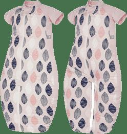 ERGOPOUCH Sleep suit Bag - Spací vak Pink Leaf 3-6 let