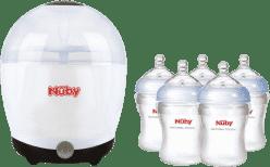 NUBY Elektrický sterilizátor + 5 láhví