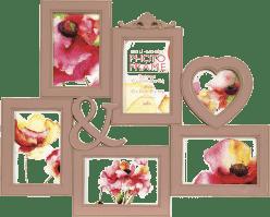 FOTORÁM růžový Maggiore XXXI na 6 fotografií 10x15 cm