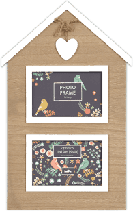FOTFOTORAMKA Domek Sweetheart na 2 fotografie 10 x 15 cm