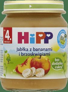 HIPP Jabłka z bananami i brzoskwiniami BIO (125g)
