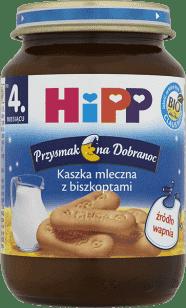 HIPP Kaszka mleczna z biszkoptami BIO (190g)