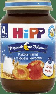 HIPP Kaszka manna z mlekiem i owocami BIO (190g)