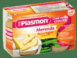 PLASMON Jogurt Hruškový 2x120g